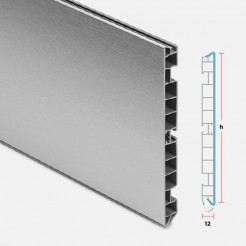 Zócalo PVC Aluminio Cepillado Cocina