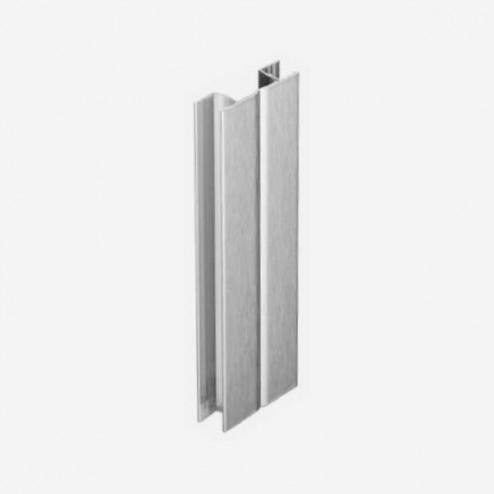 Multiángulo Aluminio Cepillado Zócalo PVC Cocina