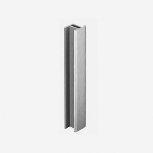 Unión Aluminio Cepillado Zócalo PVC Cocina