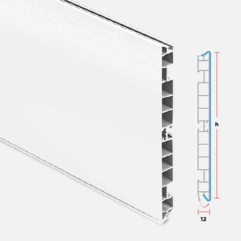 Zócalo PVC Aluminio Blanco Cocina