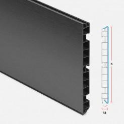 Zócalo PVC Aluminio Antracita Cocina