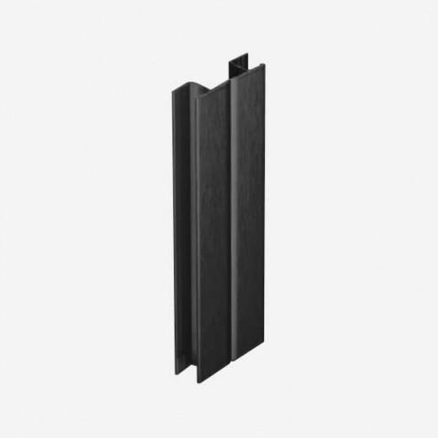 Multiángulo Negro Zócalo PVC Cocina