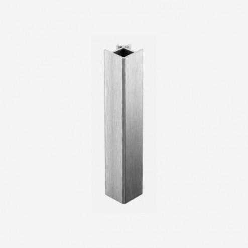 Unión Ángulo 90º Aluminio Cepillado Zócalo PVC Cocina