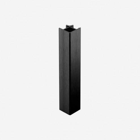 Unión Ángulo 90º Aluminio Negro Zócalo PVC Cocina