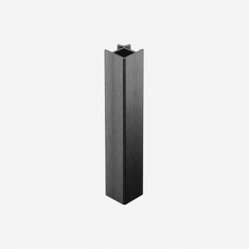 Unión Ángulo 90º Aluminio Antracita Zócalo PVC Cocina