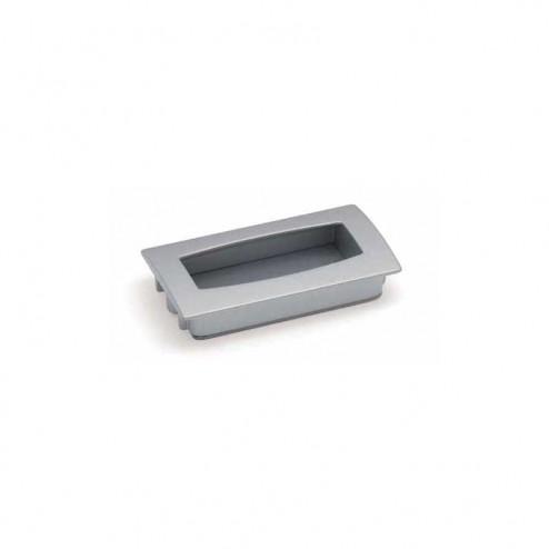 Tirador Metálico Metalizado Cromo Mate 2448