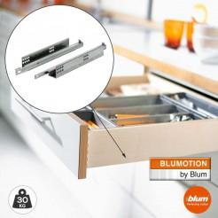 Guías 30 kg Blum Tandem con Freno Blumotion Extracción Total