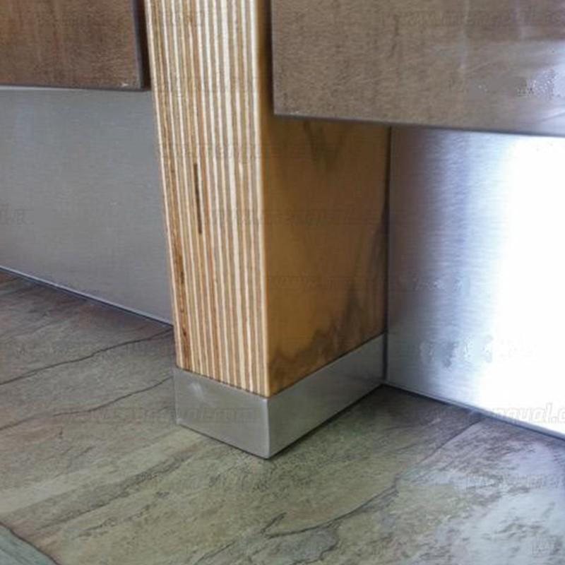 Perfil protector acero inoxidable para costado mueble cocina - Protector antisalpicaduras cocina ...