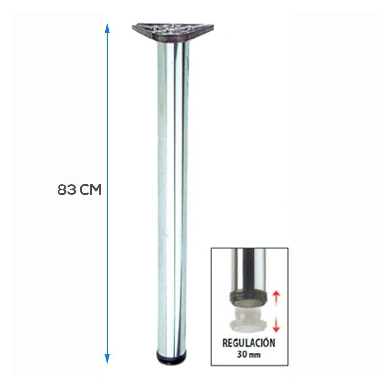 Pata de barra 83 cms alto Metalica Con Regulacion