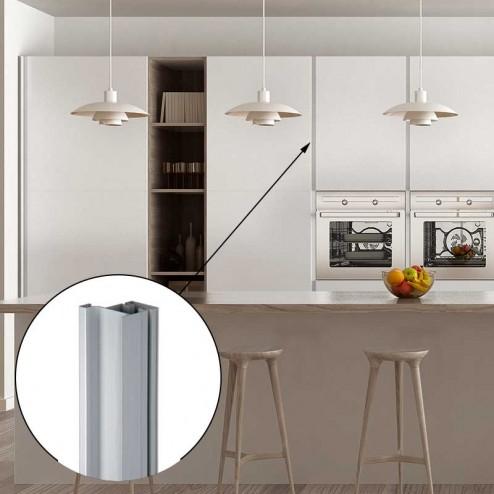 Perfil Gola Vertical Aluminio 8018