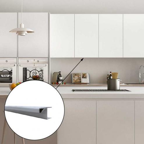Perfil Gola Aluminio para Módulo Alto