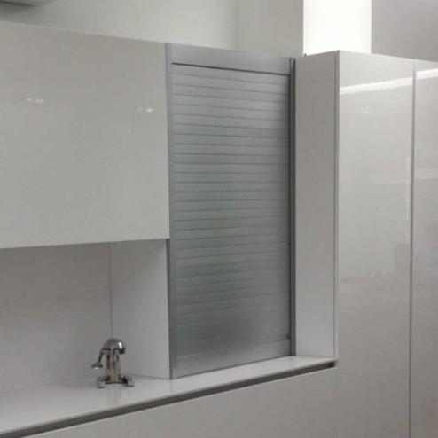 Kit Persiana Aluminio Acero Cepillado