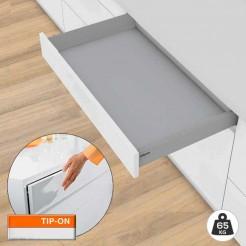 Cajón Tandembox M TIP-ON BLUMOTION 65 kg Kit CON Tablero Fondo 50