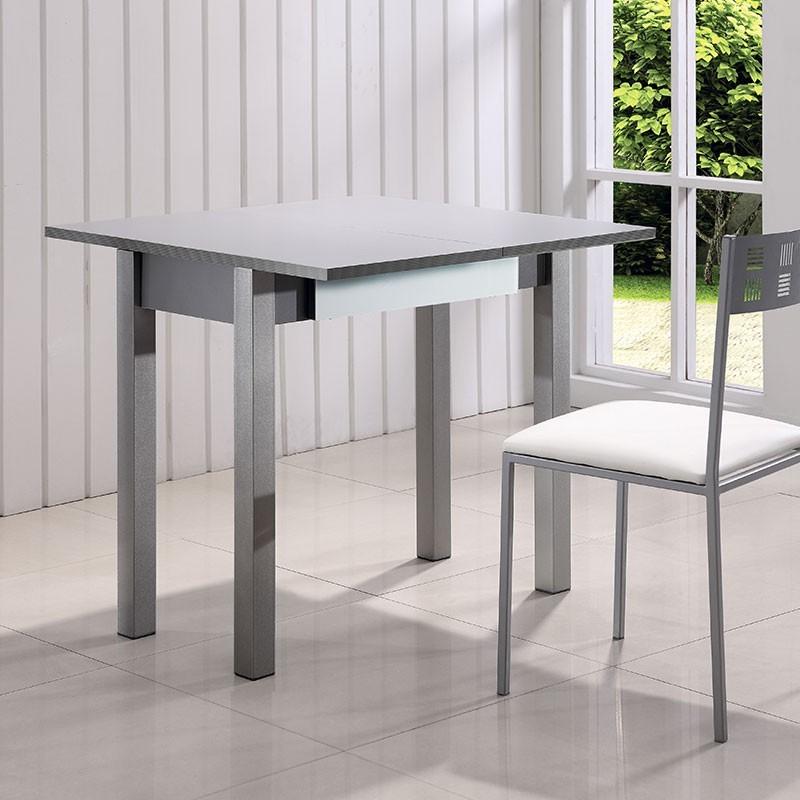 Mesa cocina libro de cristal y mfd caj n comprar ahora - Mesa de cocina libro ...