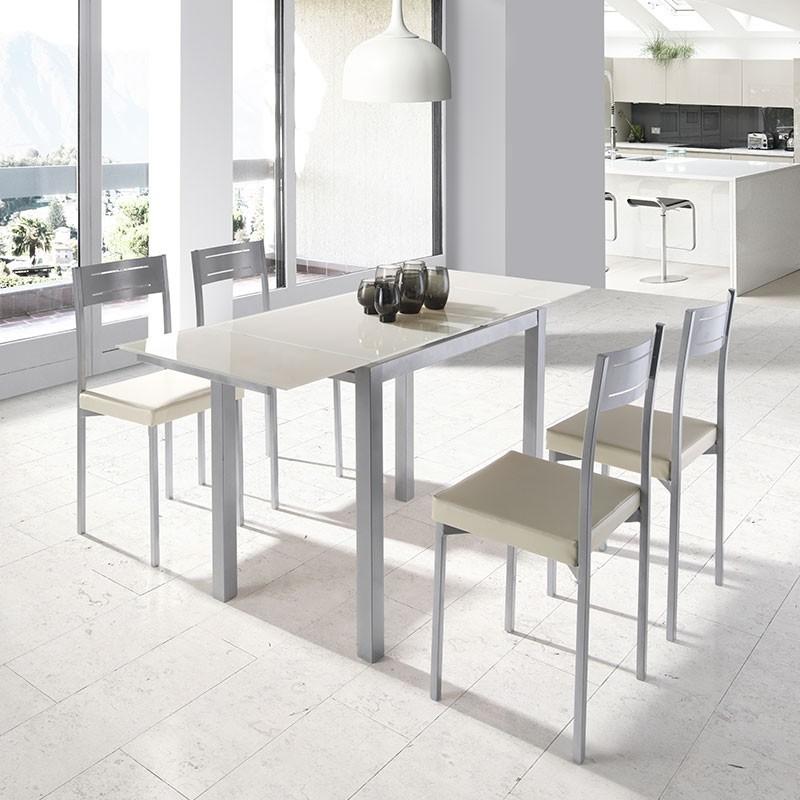 Conjunto de cocina mesa extensible 4 sillas comprar ahora for Mesas extensibles y sillas de cocina