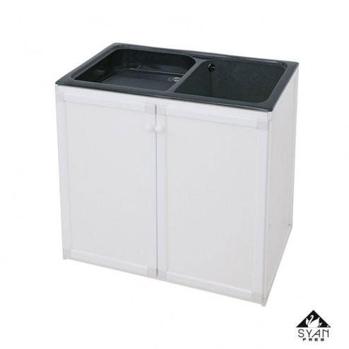 Mueble lavadero-pila aluminio Thor