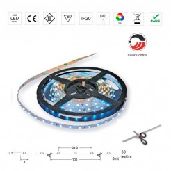 Rollo 5m Luces Led 12V Strip RGB