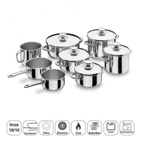 Batería de Cocina 8 Piezas Vitrocor