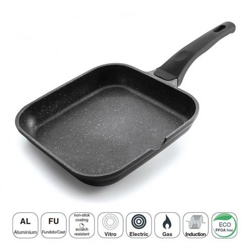 Grill Liso Black Eco-Piedra