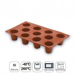 Molde Cilindro Mediano 11 Cavidades Silicona Pastryflex