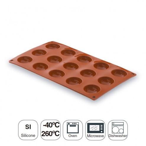 Molde Semiesférica 15 Cavidades Silicona Pastryflex