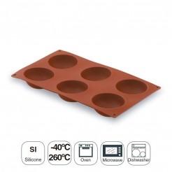 Molde Semiesférica 6 Cavidades Silicona Pastryflex