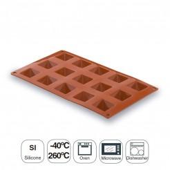 Molde Pirámide 15 Cavidades Silicona Pastryflex
