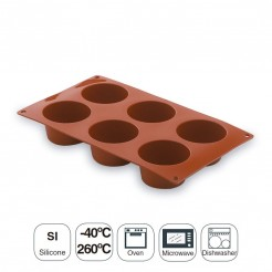 Molde Muffin 6 Cavidades Silicona Pastryflex