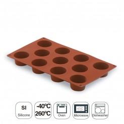 Molde Mini Muffin 11 Cavidades Silicona Pastryflex