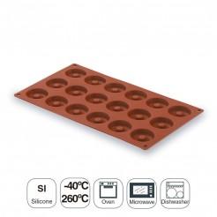 Molde Mini Savarin 15 Cavidades Silicona Pastryflex