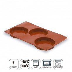 Molde Base Esponjosa 3 Cavidades Silicona Pastryflex