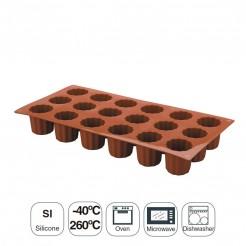 Molde Mini Bordelais 18 Cavidades Silicona Pastryflex
