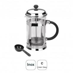 Cafetera Cristal + Inox 18% Cr.