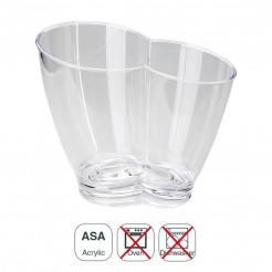 Cubo Enfriabotellas Acrílico Transparente Doble