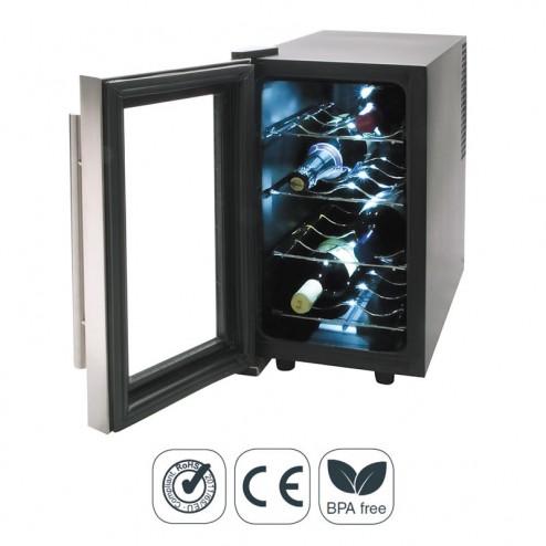 Armario Refrigerador Eléctrico 25 l/70 W - 8 Botellas Inox Line