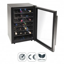 Armario Refrigerador Eléctrico 75 l/80 W - 28 Botellas Inox Line