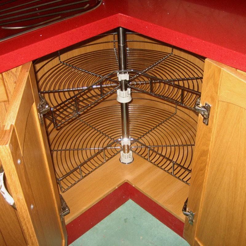 Rinconera giratoria 270 acero para bajo rincon escuadra for Mueble bajo rinconera cocina
