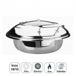 Cuerpo Chafing Dish Luxe Redondo Inox