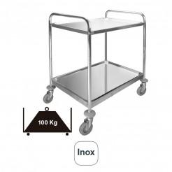 Carro Servicio 2 Bandejas Desmontable Inox 100 kg