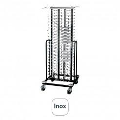 Carro Portaplatos Inox con Ruedas para 100 Platos