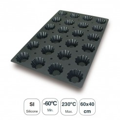 Molde Briochette 24 Cavidades Silicona Black