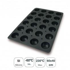 Molde Muffins 24 Cavidades Silicona Black