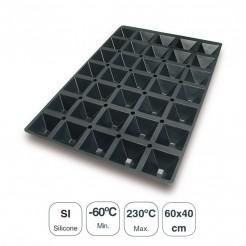 Molde Pirámides 35 Cavidades Silicona Black