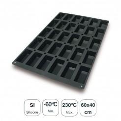 Molde Mini Cakes 30 Cavidades Silicona Black