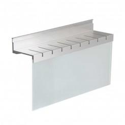 Portacuchillos en Aluminio y Cristal para Barra de Colgar Stark
