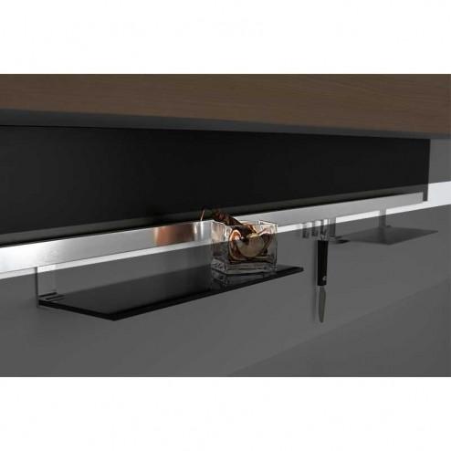 Barra aluminio cepillado tit n para colgar accesorios de for Accesorios de cocina online