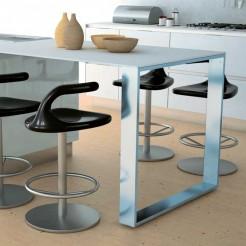 Estructura Península Cocina en Aluminio Brillo