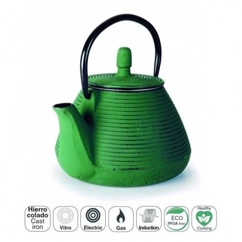 Tetera Hierro Fundido 0,8 L Verde