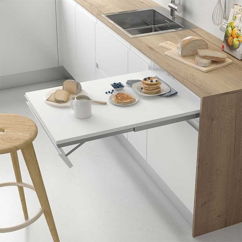 Herraje mesa extraible para mueble de cocina for Mueble mesa cocina
