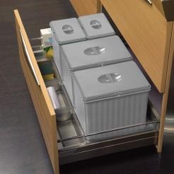 Cubo basura reciclaje I Cajon 90 cms